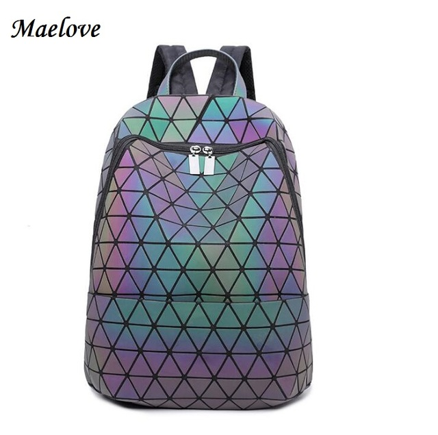 c1820e52a5 Maelove geometry backpack Fashion women backpack Noctilucent shoulder bag  Luminous backpack Student s School bag