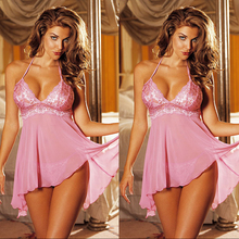 Free shipping 2015 new fashion sexy  lingerie  Translucent  pink  Lace pajamas