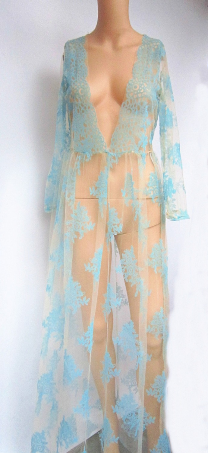 4f6036a3ff yuqung Women long sleeve Beach kimono dress robe see through clothing cape  bikini long swimsuit maxi Boho Dress Shirt Vestidos-in Dresses from Women's  ...