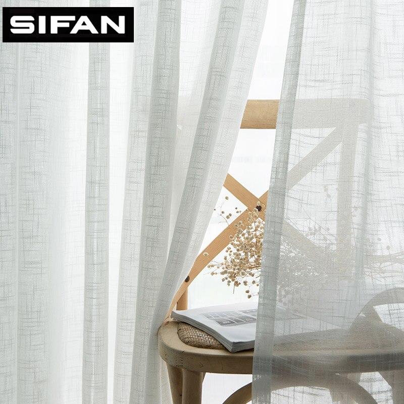 Japão Sólida Cortinas de Tule para o Quarto Janela Sheer Voile Cortina Cortinas Cortinas Cortinas para Sala de estar Cozinha Moderna