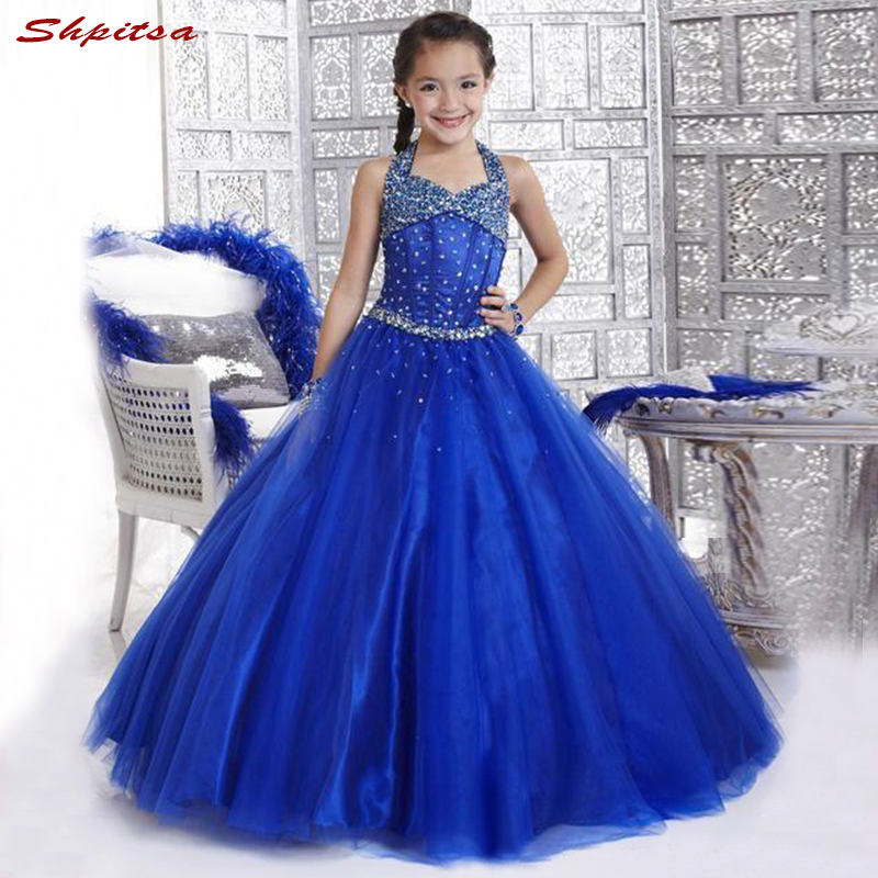 Royal Blue   Flower     Girl     Dresses   for Weddings Evening First Communion Pageant   Dresses   for Wedding   Girls   Kid