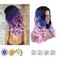 Черный синий розовый краска для волос сексуальные волосы цвета естественные волнистые стрижки toyokalon волос фронта синтетические парики
