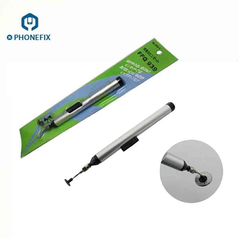 Jadeshay Soldering Suction Pen,Manual Vacuum Suction Pen Soldering Sucking Pickup Tool Kit with Suckers for I-C S-M-D