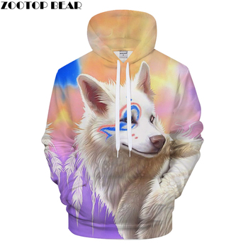 NEW 2019 Off white Dear fox 3D printed Men Hoodie Harajuku Funny Man 3D Hoodie Brand Quality Outwear xxxtentacion Man Pullover худи xxxtentacion