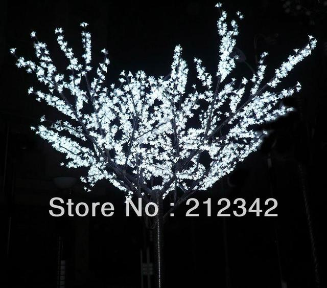 Free Shipping to Russia! 1,000pcs LEDs, 2.0m Height, 220VAC, LED Artificial Cherry Tree Light, White Color! Waterproof, Outdoor