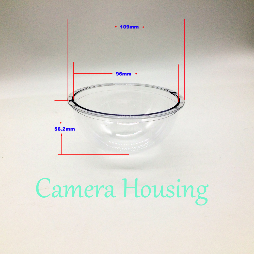 Outdoor CCTV Replacement Clear Dome Camera Housing 4.3 Inch Acrylic Indoor