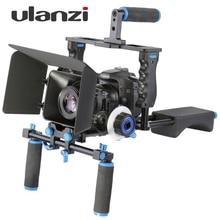 DSLR 4 в 1 Комплект Рог Плеча Видеокамера Стабилизатора клетка/Матовая Коробка/Следуйте Фокус для Canon Nikon Sony видеокамеры