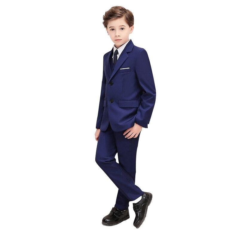 Boys Wedding Dress Suit Sets British Style Children Formal Party Wedding Prom Pi