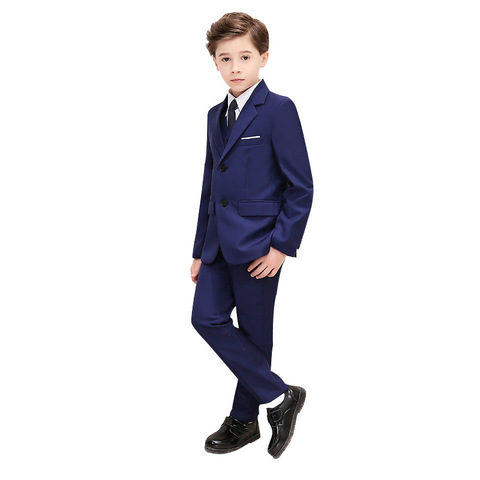 Boys Wedding Dress Suit Sets British Style Children Formal Party Wedding Prom Piano Performance Costume Kids Blazer Pants Oufits Pakistan