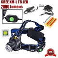 AloneFire HP88 Zoom Headlight Cree XM-L T6 LED 2200LM led Headlamp light led for 1/2x18650+Charger/Car charger/2x 18650 battery