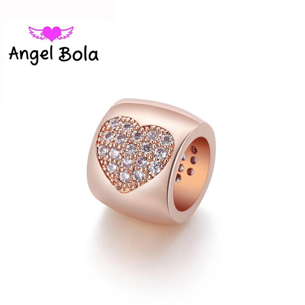 f89ed5e28f41  Pieza Moda PRYME DIY infinito pulsera encantos joyería para amante regalo  AAA circón redondo corazón diseño intercambiable encantos ep-016US  1.56