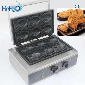 Commercial Non-stick 6 pcs electric Taiyaki Fish Waffle Maker Machine Fish Cake Mold Taiyaki  Fish Egg cake maker - DISCOUNT ITEM  60% OFF All Category