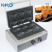 Commercial Non stick 6 pcs electric Taiyaki Fish Waffle Maker Machine Fish Cake Mold Taiyaki Fish Egg cake maker