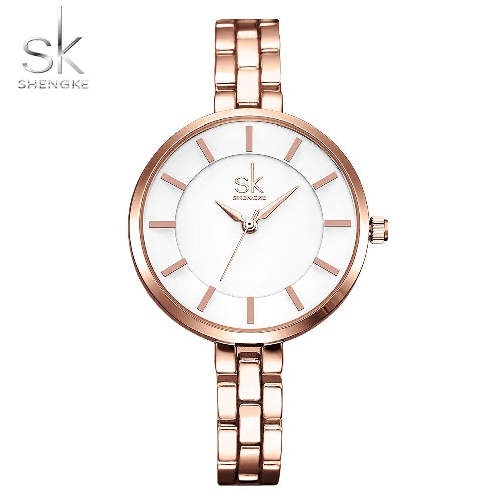 Shengke New Women Bracelet Wrist Watches Simple Girls Fashion Geneva Quartz Clock Female Luxury Wristwatch 2017 Relogio Feminino