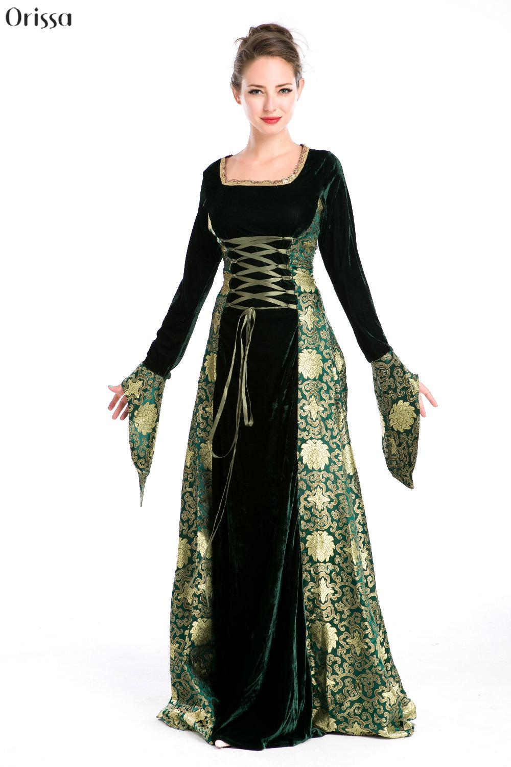 Cosplay Women Period Costumes Gowns Halloween Costumes For -4627
