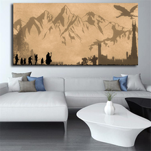 The Lord Of The Rings Wallpaper LOTR Canvas Painting Print Living Room Home Decor Modern Wall Art Oil Painting Poster Pictures the art of wallpaper