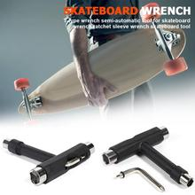 T-Type Skateboard Wrench Tool Ratchet Mini Kick Socket Scooter Skate Hand Black 2019