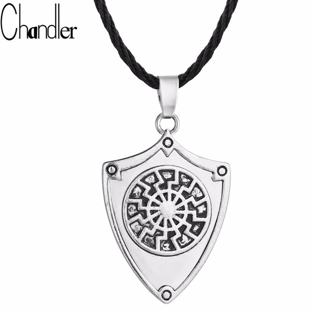Chandler silver sun sheild pendant necklace protection amulet chandler silver sun sheild pendant necklace protection amulet vikings jewelry old norse handcrafted gift man colier mozeypictures Images