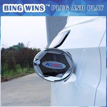 Araba stil ABS Krom Yakıt Deposu Kapağı Gaz Tankı Kapağı yakıt Cap Kapak Trim Ford Kuga 2013-2017 Dış Araba aksesuarları