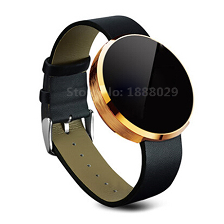 ФОТО DM360 Smart Watch For Sport Leather Strap Stainless Steel Dial Compatible With Android and IOS BT 3.0+4.0 IP53 daily waterproof