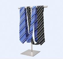 6pcs New stainess steel silk scarves display stand adjustable tie necktie display holder women's handbag wig purse showing rack hot sell metal tie display rack necktie display stand
