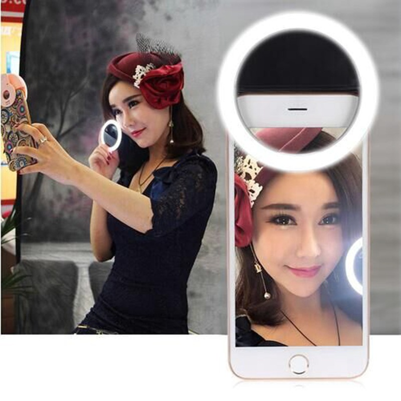Mobile Phone Accessories Realistic 2018 New Arrival 1 Piece Universal Fashion Selfie Ring Led Light Lamp For Mobile Phone Lens With Usb Port Charger