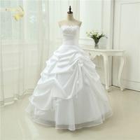 Wedding Gown A line Vestido De Noiva Applique Sequins Sweetheart Casamento White Ivory Plus Size 2019 Wedding Dresses OW 2043