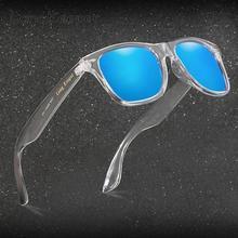 Зеркальные поляризационные солнцезащитные очки для женщин и мужчин UV400 очки ночного видения фирменный дизайн прозрачные солнцезащитные очки с логотипом longkeader