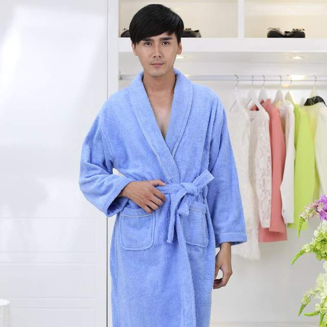 c2cbdda61c Winter Cotton bathrobe men Thick Pajamas Towel Fleece Bridesmaid Robes  nightgown Kimono Men s Robe Long Soft