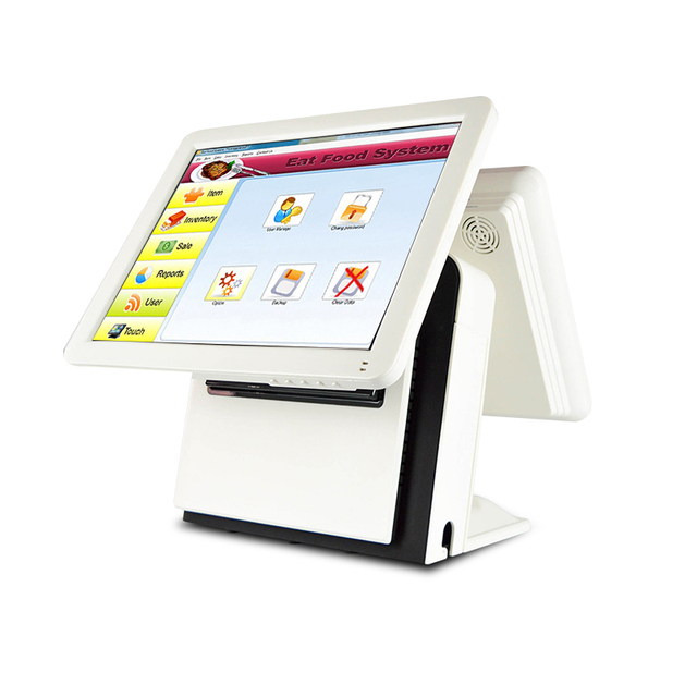 New Price 1618D Compos 15 Inch Touch Screen Display Cash Register Cash Register Cash Box Scanner Printer Set Can Be Customized