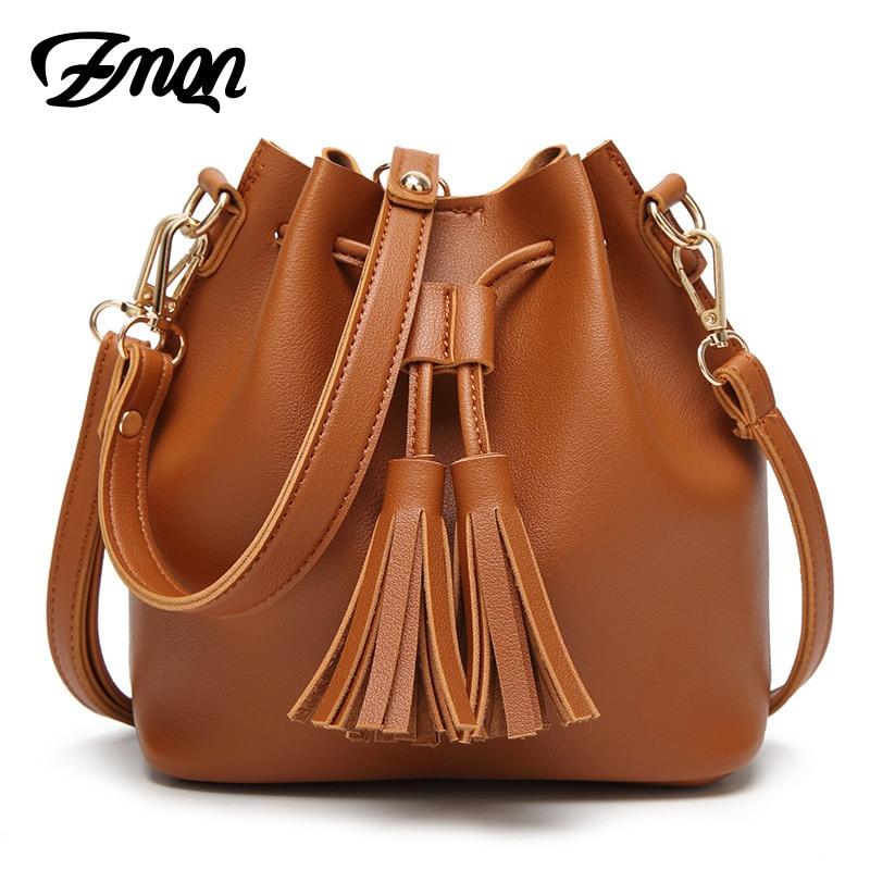 ZMQN Women Messenger Bag 2017 Small Crossbody Bags For Women Bucket Tassel Shoulder Handbag <font><b>China</b></font> Wholesale Mini Bag Ladies A513