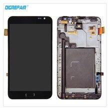 100% Probado Negro Para Samsung Galaxy Note N7000 i9220 Pantalla LCD de Repuesto Asamblea de Pantalla Táctil Digitalizador + Capítulo del bisel