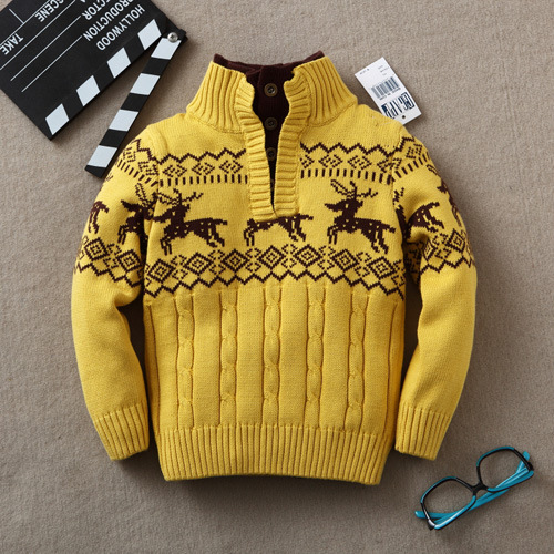 Baby Sweaters  Kids Boys Spring Autumn Infant Cardigan for Girl Sweaters Baby Turtleneck Knitting Clothing Children Outerwear 2