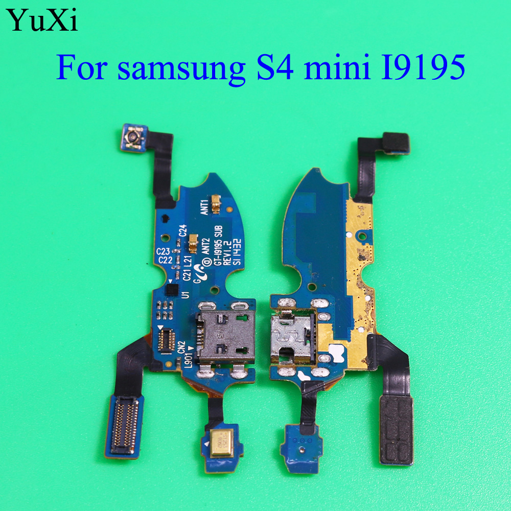 YuXi Charger Flex For Samsung Galaxy S4 Mini S4mini I9195 USB Date Port Connector Dock Charging Flex Cable Repair Part