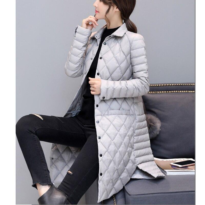 Agregar abrigo Ultra mantener caliente chaqueta de plumón de pato blanco x long mujer sobretodo nuevo Slim sólido chaquetas de invierno abrigos Parkas acolchadas - 2