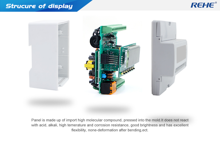 Intelligent multifonctions 3P three-phase LCD Digital Network Power Meter 96*96mm