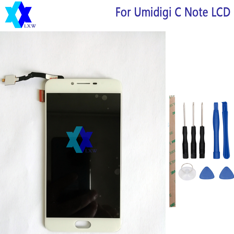 For Umidigi C Note LCD Display +Touch Screen Panel Digital Replacement Parts Assembly Original 5.5 inch 1920x1080P Stock