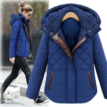 Women's Winter Clothing Thicker Plus Velvet Cotton Padded Coat Women Short Down Jacket Female Winter Coat Warm Short Parka TT183