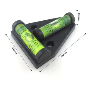 Image 3 - Triangular Plastic level indicator 1 pc T type spirit level measurement instrument Mini Spirit Level measurement instrument