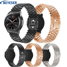 Gear S3 Frontier Metal Stainless Steel Watchband For Samsung Galaxy watch 46mm classic bracelet wrist strap for huawei gt