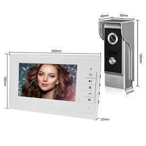 """Image 2 - Videoportero de 7 """"con cable sistema de entrada de puerta de vídeo para el hogar, impermeable, IR, cámara de visión nocturna, Audio bidireccional con Monitor 1or2"""
