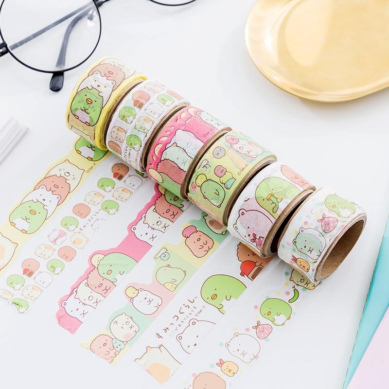 Love Sumikko Gurashi Decorative Washi Tape Sticker DIY Scrapbooking Masking Tape School Office Supply Escolar Papelaria