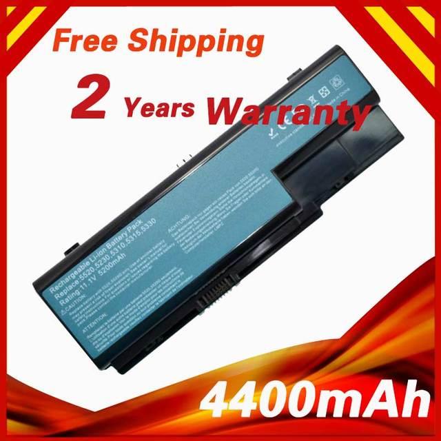 4400 mah batería del ordenador portátil para acer aspire 5230 5235 5310 5315 5330 5520 5530 5535 5710 5715 ak.006bt. 019 as07b31 as07b32