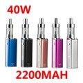Caja vape Mod Kit 40 W atomizador Cigarrillo electrónico 2200 mah Batería cigarrillo electrónico Vaporizador narguile electrónica