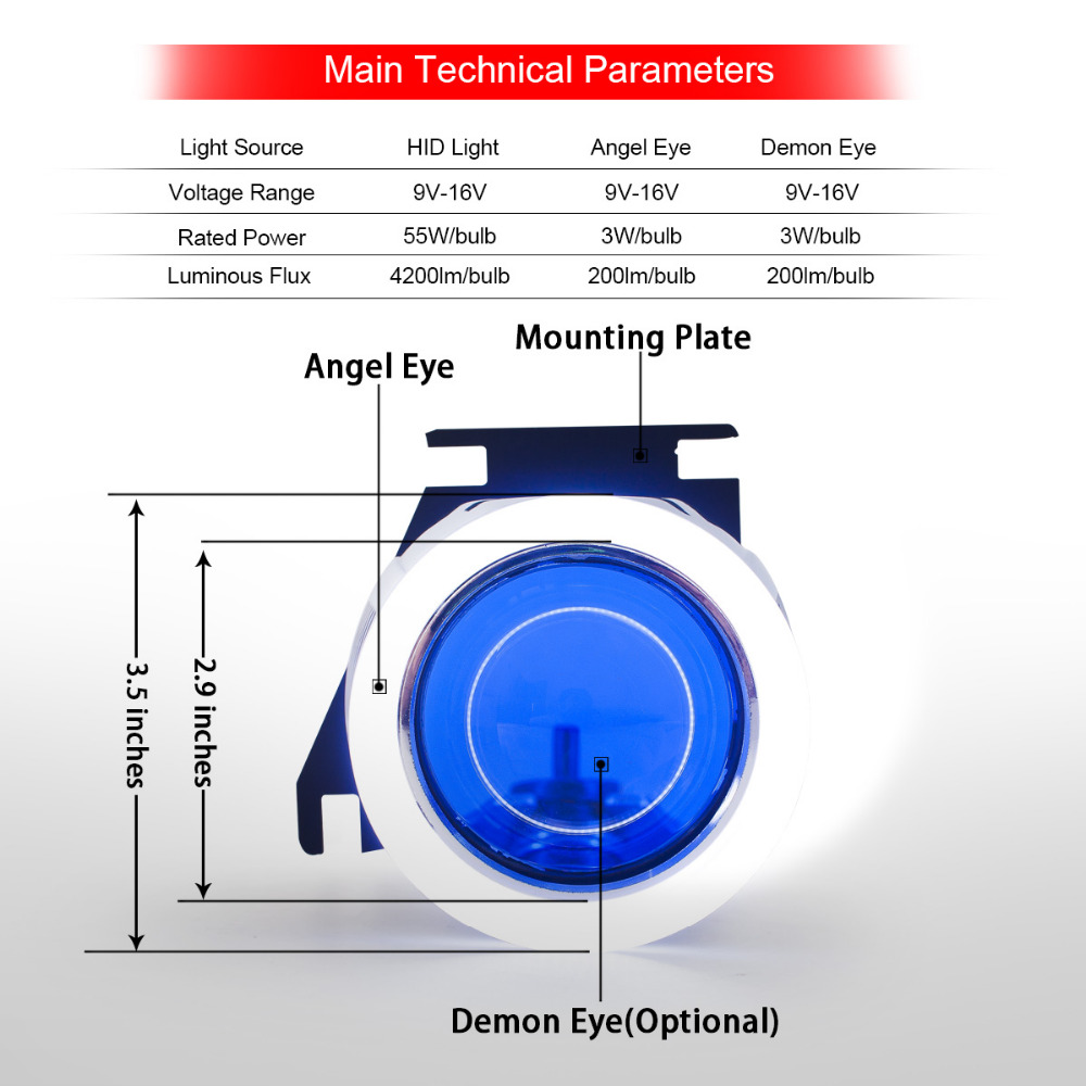 Kt Bi Xenon Projector Headlight Suitable For Kawasaki Ninja 300 2013 2014 Engine Diagram 2015 2016 Led Angel Halos Eyes Blue Demon Lens On Alibaba Group