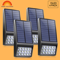 2PCS Xinree Solar Wall Light With 3 Lighting Modes For Garden Pathway Fence Patio Waterproof IP65