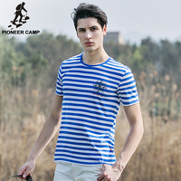 Pioneer Camp 2016 New Fashion Summer Men S T Shirt Army Striped Cotton T Shirt Soft