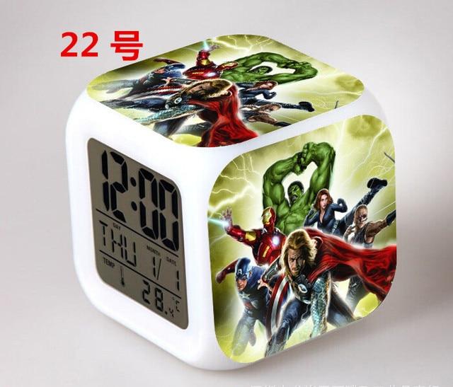 Marvel\'s The Avengers Bedroom clock LED 7 Color Flash Digital ...