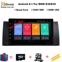 IPS HD 9'' Android 8.1 Quad Core Radio Car DVD Player GPS 4G Stereo for BMW E39 M5 1999 2000 2001 2002 2003 7 Series 1994 2001