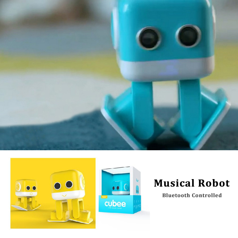 Smart Square Dance Robot Electronic Walking Toys dancing With Music Bluetooth Wireless Speakers Gift For Kids Toy to Child